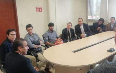 Hoy recibí en la Procuraduría Social a alumnos de derecho de la Universidad Bancaria y Comercial