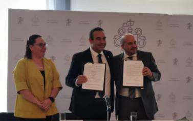 Firma del convenio de colaboración entre SIPINNA municipal y la Procuraduría Social